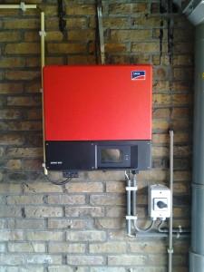 Omvormer PV installatie